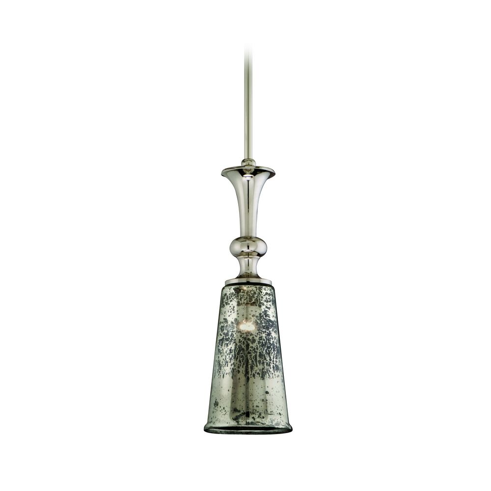 mini pendant light with mercury glass 103 43 destination lighting