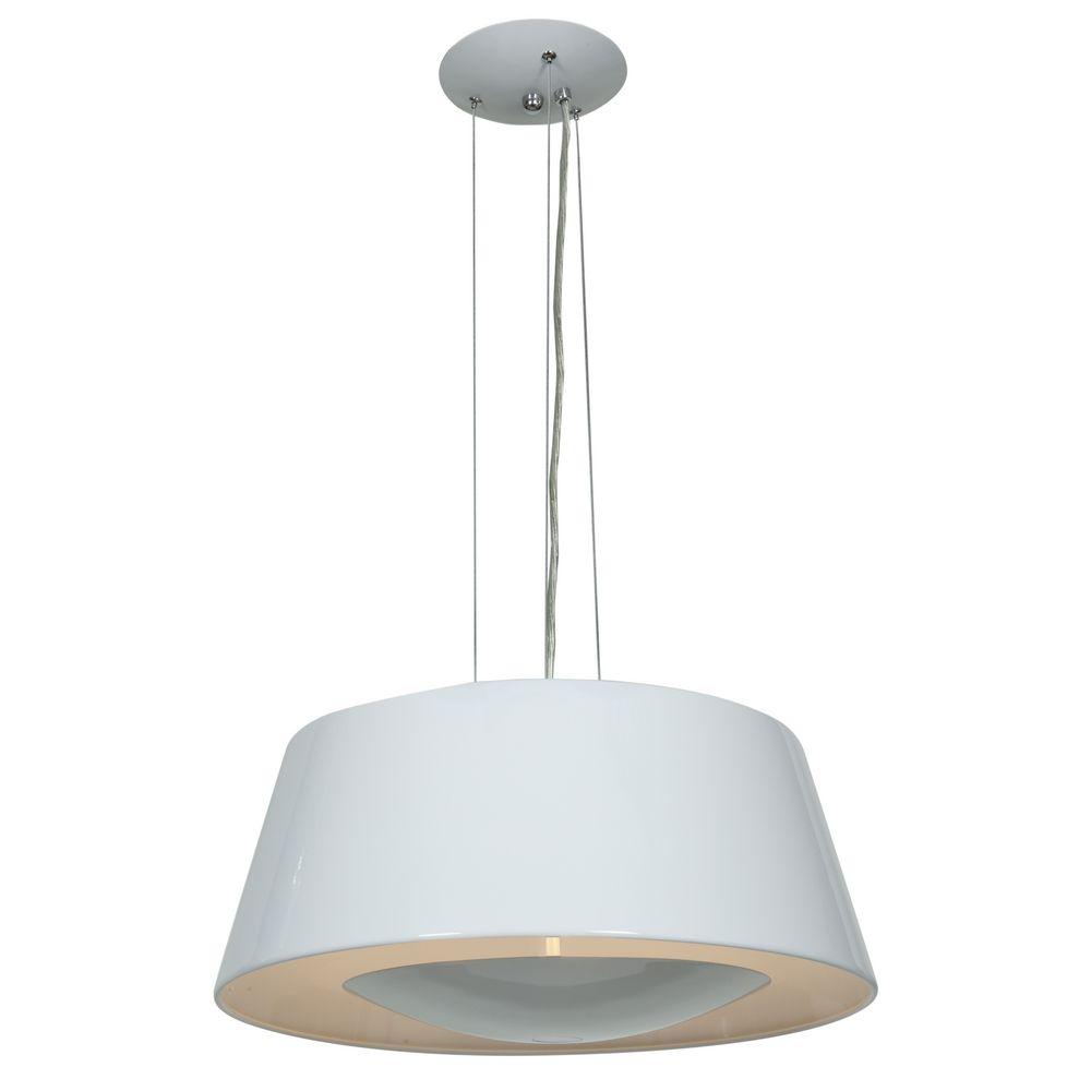 access lighting soho glossy white pendant light with drum