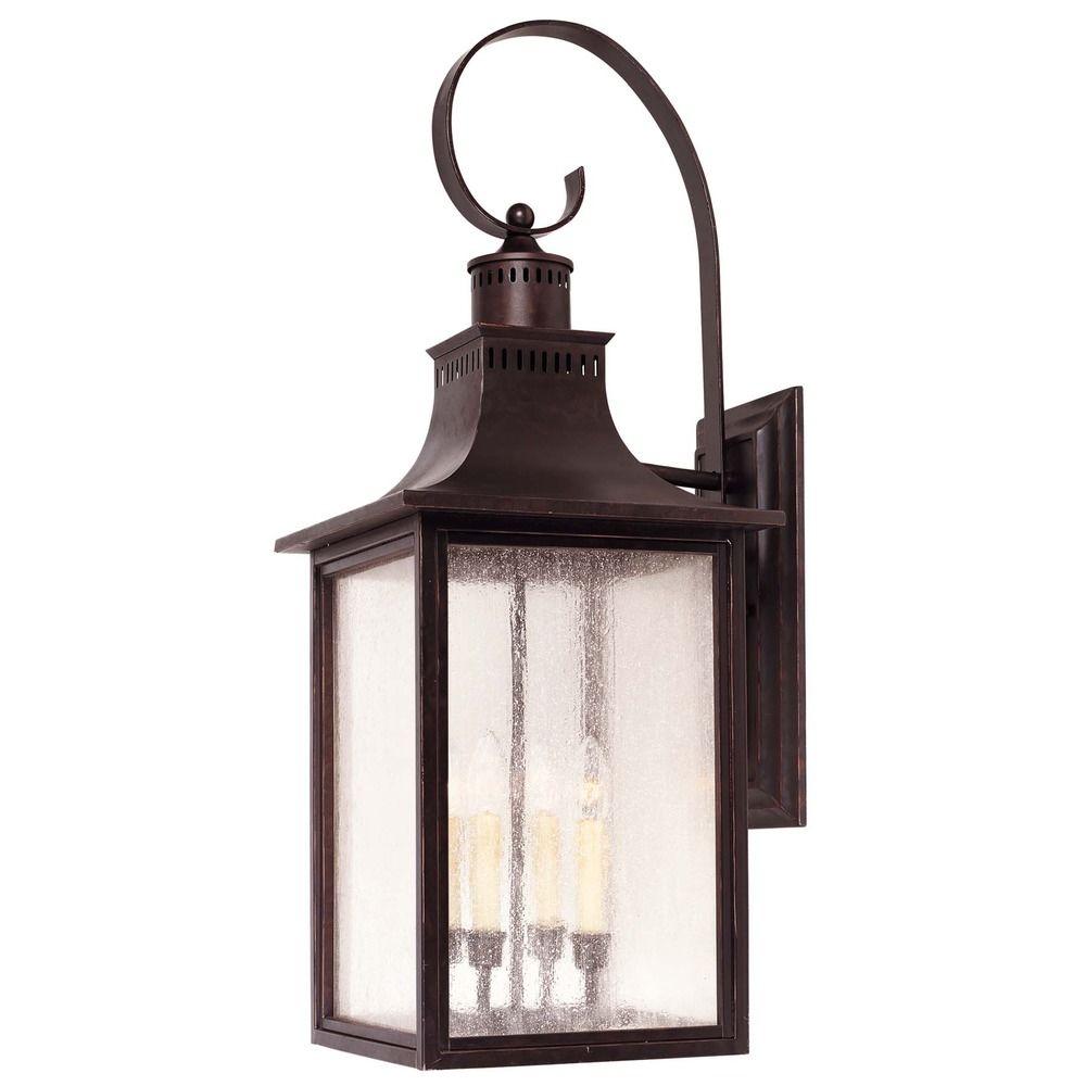 Pale Cream Seeded Glass Outdoor Wall Light Bronze Savoy House 5 257 13 Destination Lighting