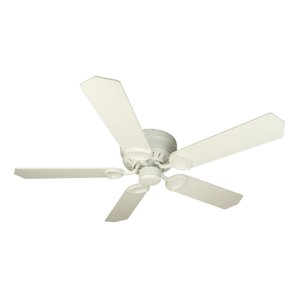 Hugger Ceiling Fans Without Light: Craftmade Lighting Pro Universal Hugger White Ceiling Fan