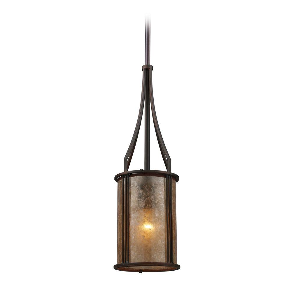 mini pendant light with brown mica shade 15033 1 destination lighting. Black Bedroom Furniture Sets. Home Design Ideas