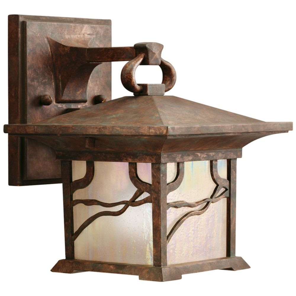 Kichler 8.5-Inch Distressed Copper Outdoor Wall Light