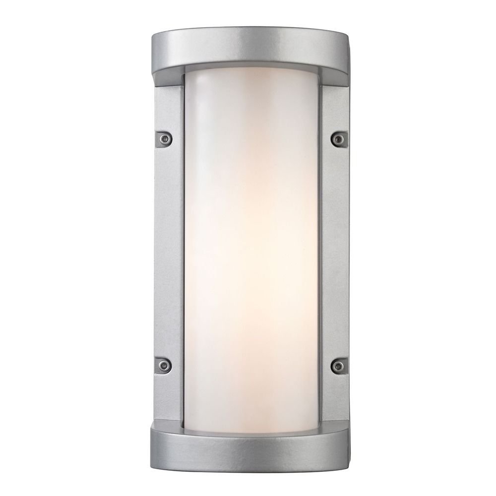 Silver Picture Wall Lights : Elk Lighting Colby Matte Silver LED Outdoor Wall Light 45131/LED Destination Lighting