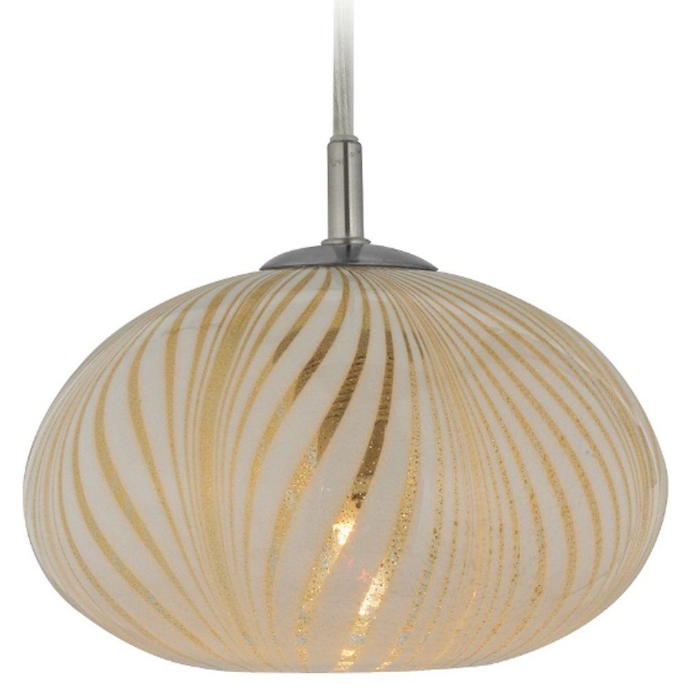 Oggetti lighting oro satin nickel mini pendant light with for Oggetti lighting