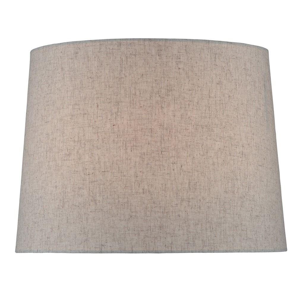 lite source lighting natural linen drum lamp shade with spider. Black Bedroom Furniture Sets. Home Design Ideas