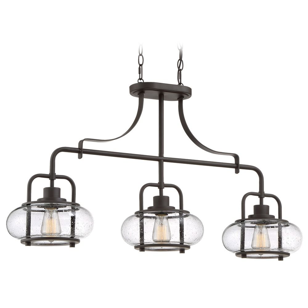 Quoizel Tiffany 3 Light Pendant in Vintage Bronze TF1783VB |Quoizel Pendant Lighting