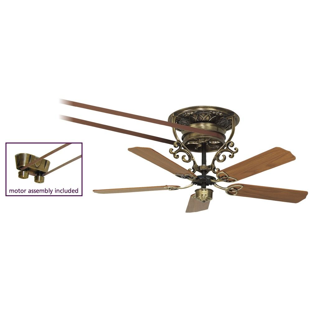 Antique brass ceiling fans with lights : Fanimation fans bourbon antique brass ceiling fan without