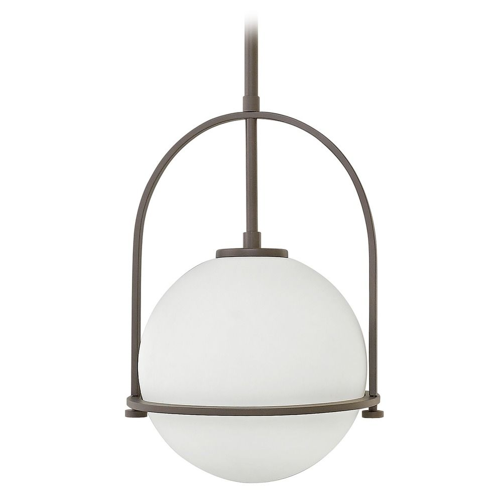 hinkley lighting somerset buckeye bronze pendant light with globe shade - Bronze Pendant Light