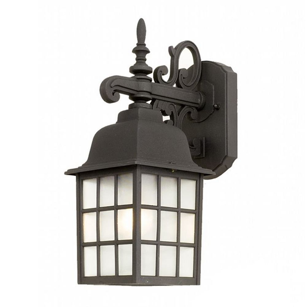 Wall Lantern External : Outdoor Wall Lantern with LED Light Bulb 3344 BK 10W LED Destination Lighting