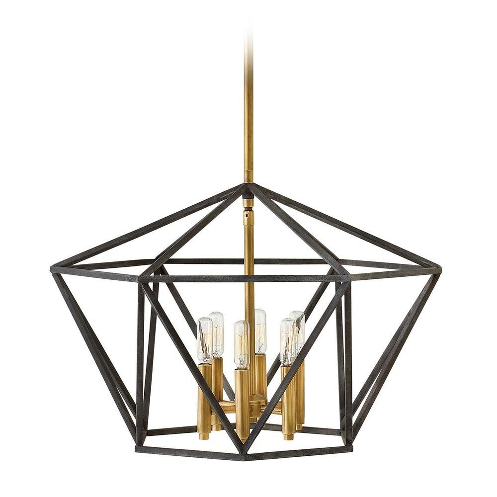 Hinkley Lighting Theory Aged Zinc Pendant Light