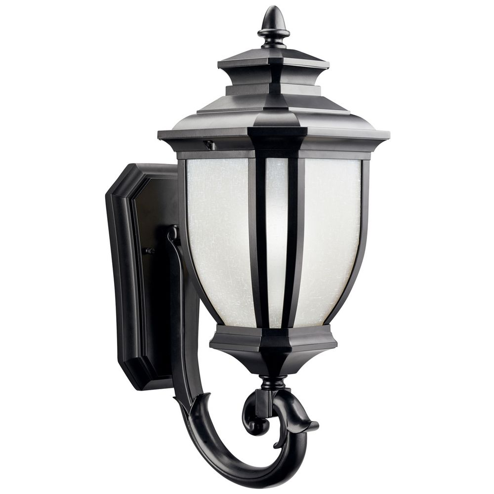 Kichler Lights Outdoor: Kichler Outdoor Wall Light With White Glass In Black