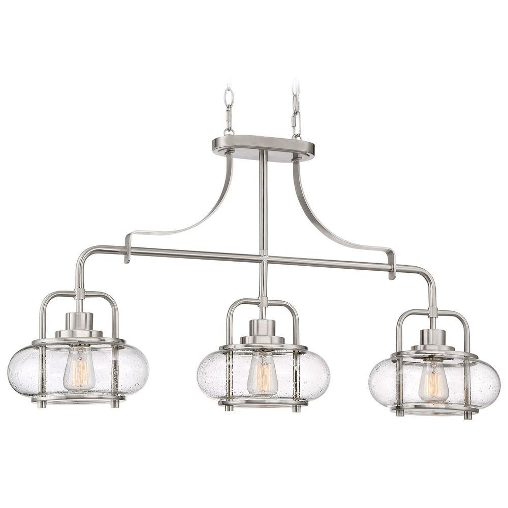 Edison Bulb Island Light Brushed Nickel 38 Inch By Quoizel Lighting At Destination Lighting