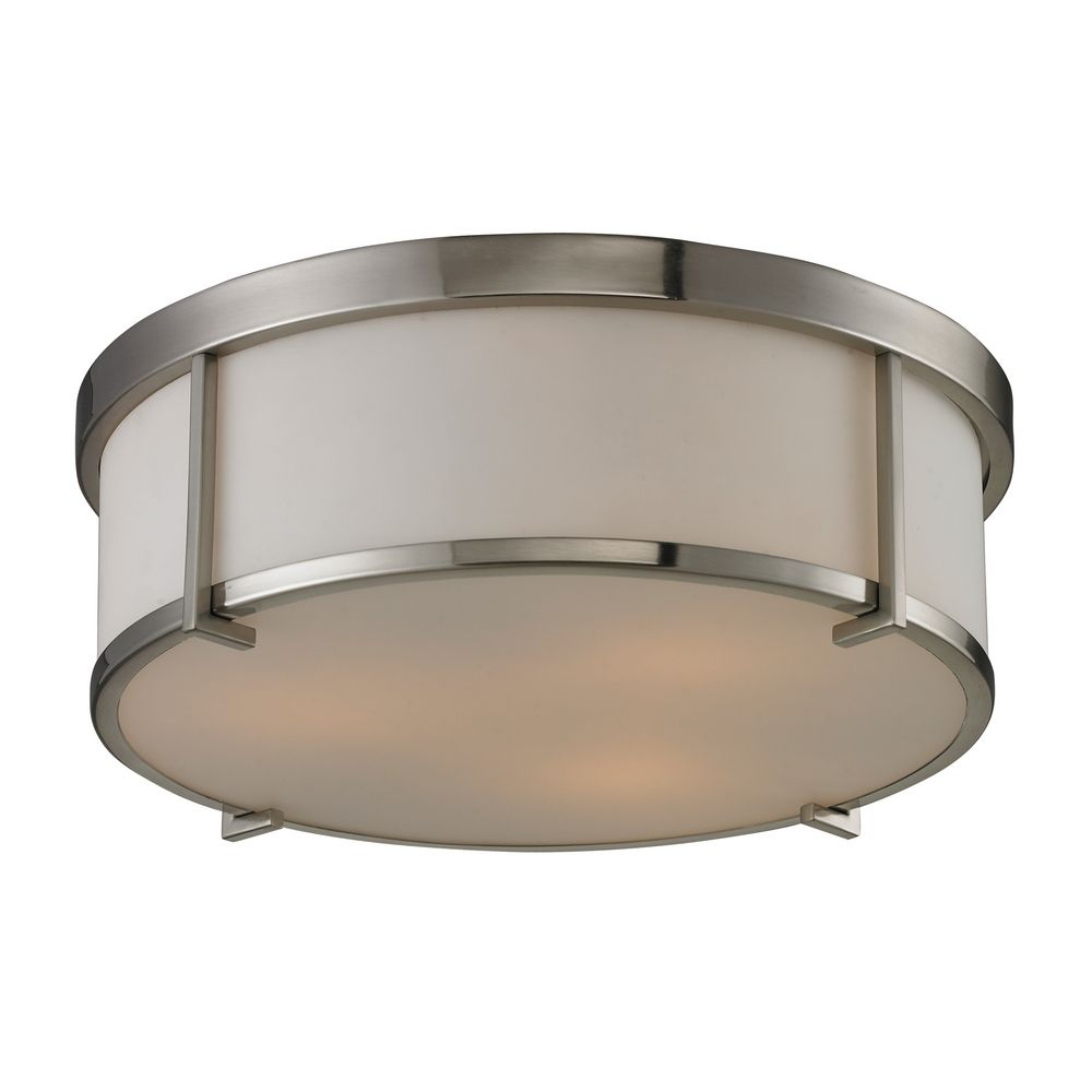 Http Www Destinationlighting Com Item Modern Flushmount Light Brushed Nickel Finish P1167462