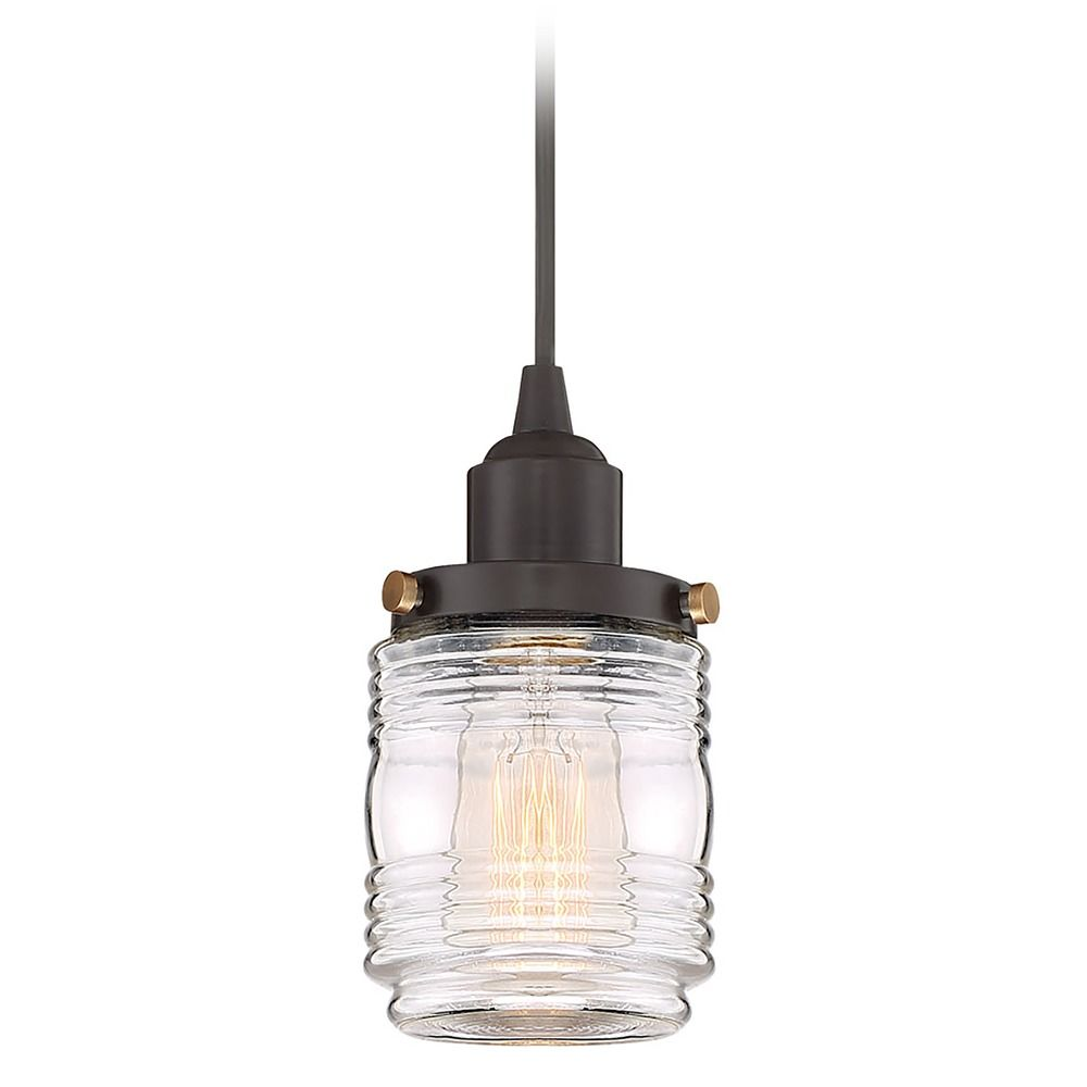 Seeded Glass Mini-Pendant Light Bronze Quoizel Lighting ... |Quoizel Pendant Lighting