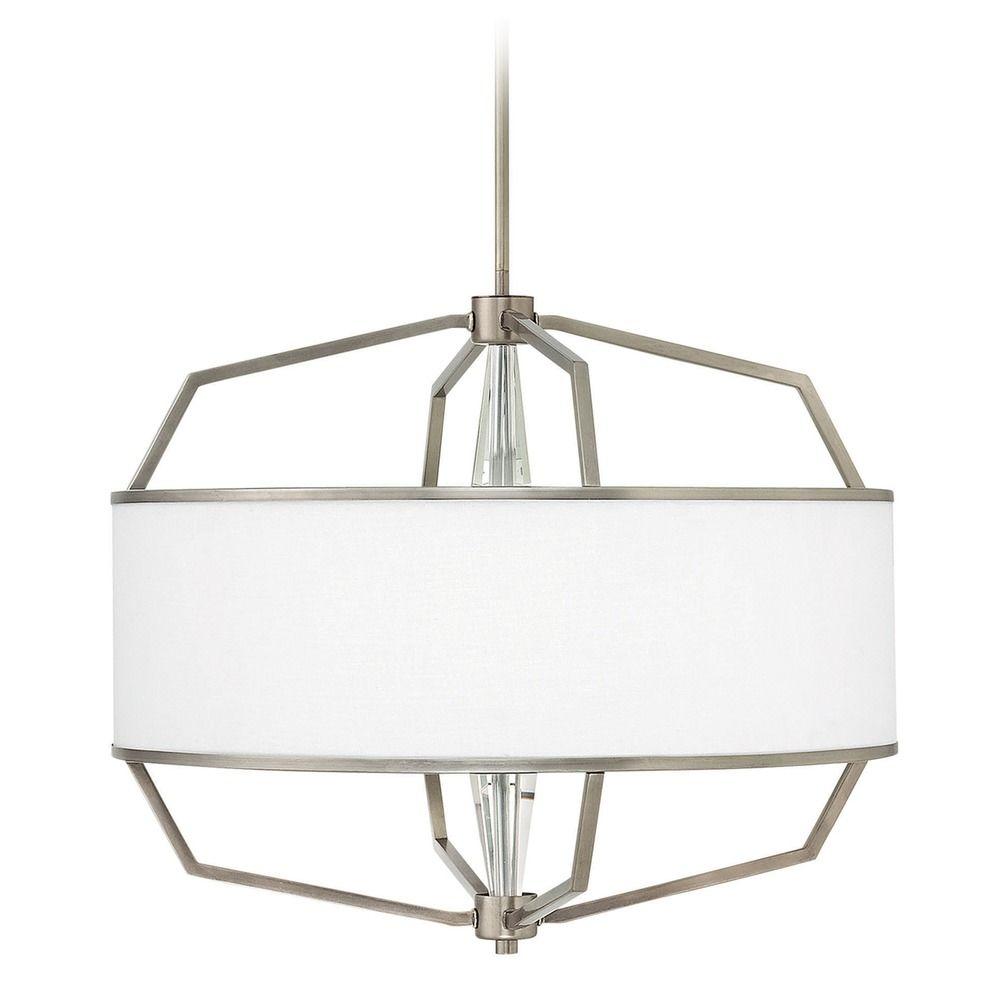 Hinkley Drum Lighting: Hinkley Lighting Larchmere English Nickel Pendant Light