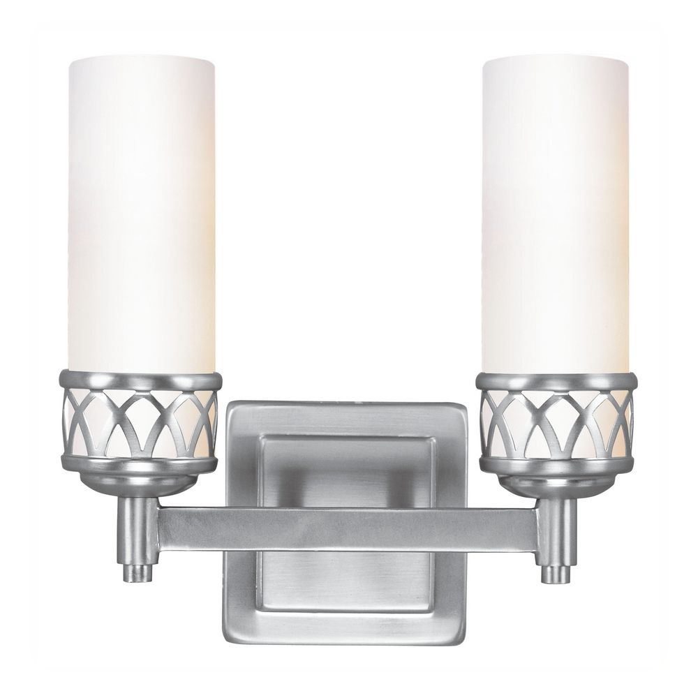 Livex Lighting Westfield Brushed Nickel Bathroom Light 4722 91 Destination Lighting