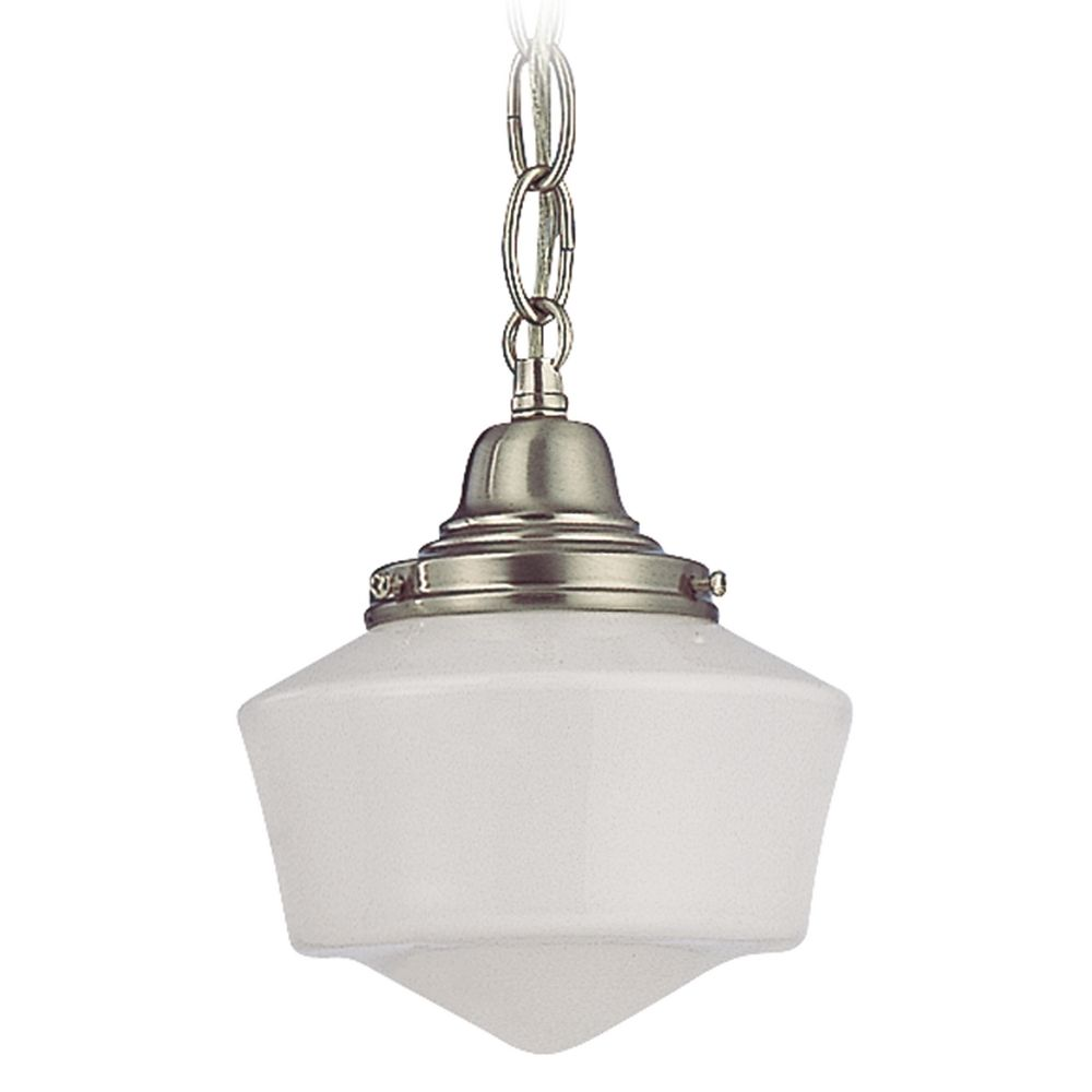 6 Inch Schoolhouse Mini Pendant Light With Chain In Satin