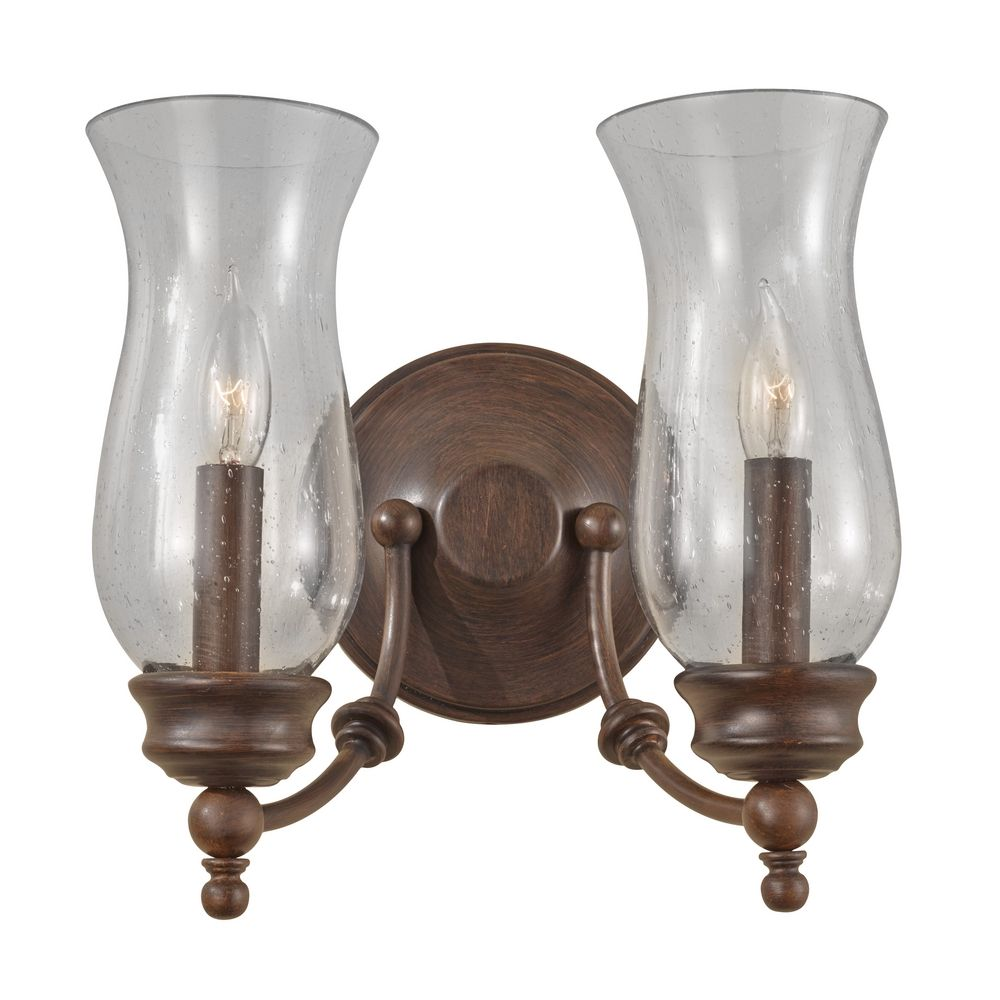 Wall Sconces Bronze Finish : Sconce Wall Light with Clear Glass in Heritage Bronze Finish WB1598HTBZ Destination Lighting