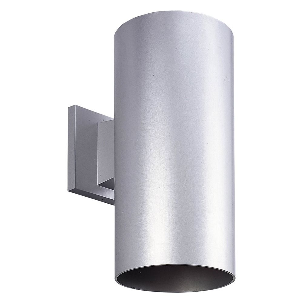Progress Lighting Cylinder Metallic Gray LED Outdoor Wall Light P5641 82 30