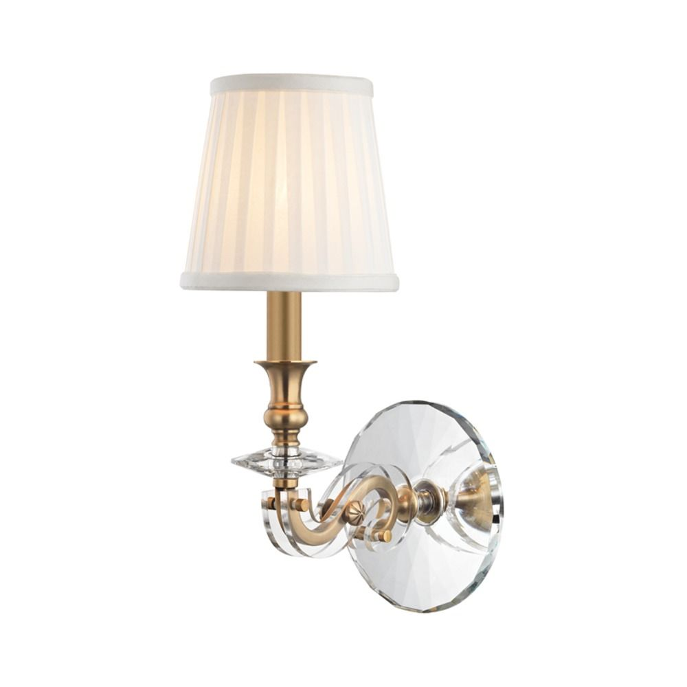 Hudson Valley Lighting Lapeer Aged Brass Sconce 1291 Agb
