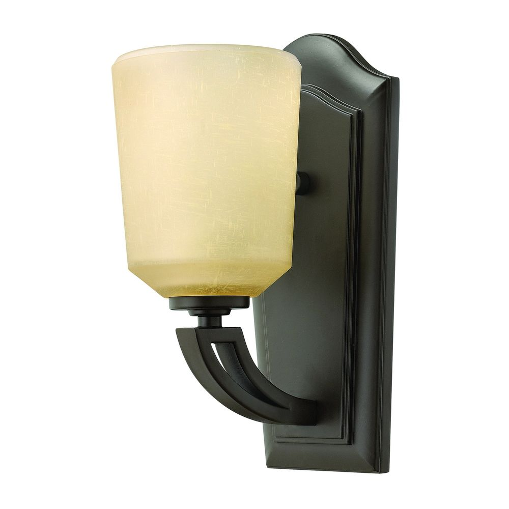 Sconce Wall Light with Amber Glass in Buckeye Bronze Finish 4430KZ Destination Lighting