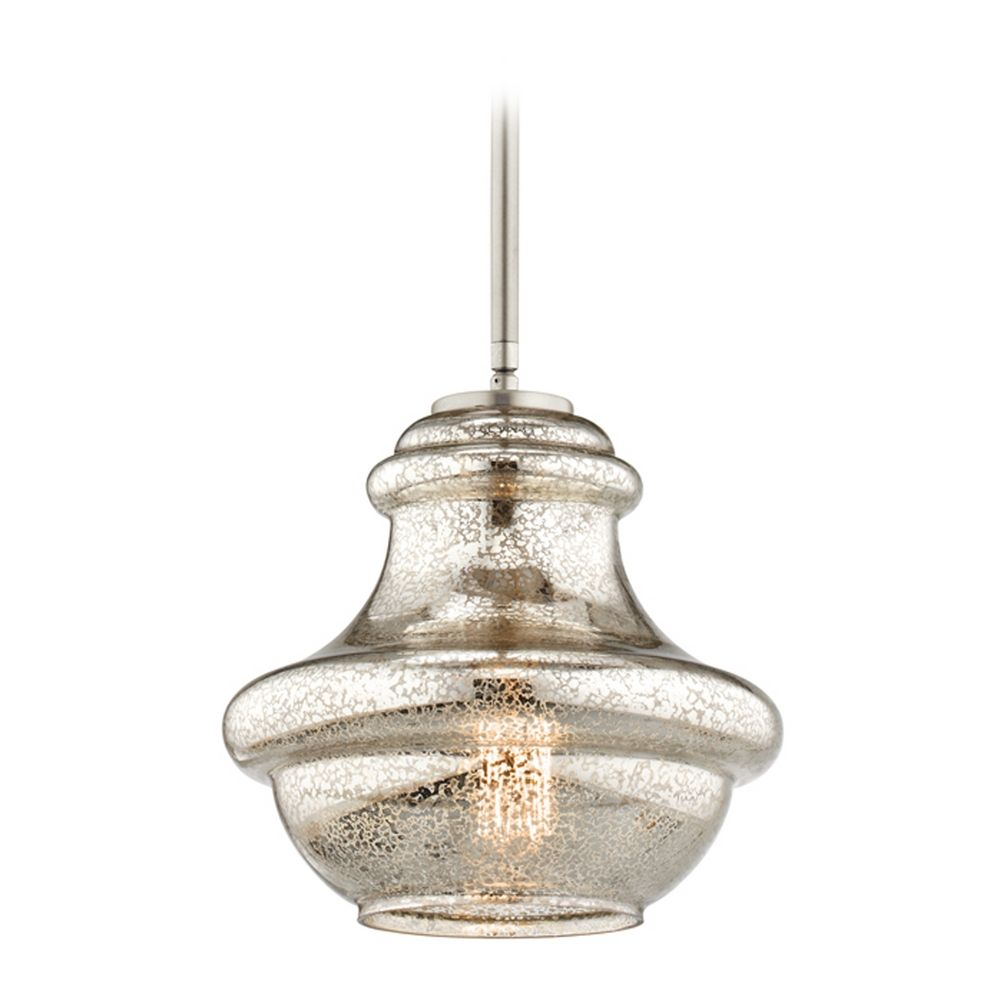 outlet store c2ea5 ea039 Kichler Lighting Everly Brushed Nickel Mini-Pendant Light with Urn Shade at  Destination Lighting