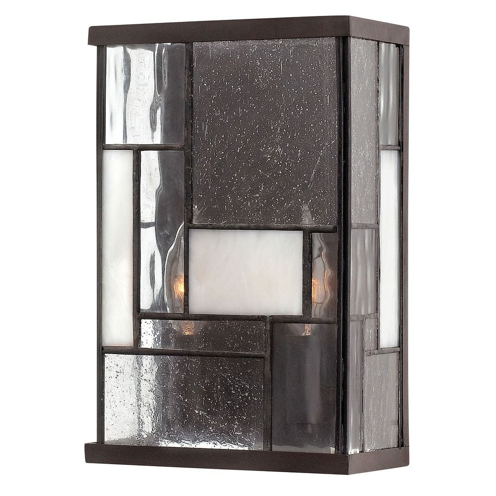 Bronze Glass Wall Lights : Sconce Wall Light with Copper Glass in Buckeye Bronze Finish 4570KZ Destination Lighting