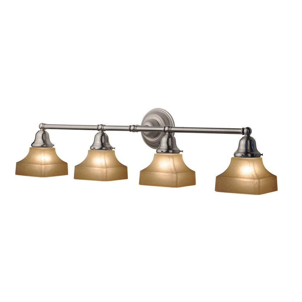 Vanity Lights Kit : Four-Light Bathroom Vanity Light with Square Shades 674-09/G9415C KIT Destination Lighting