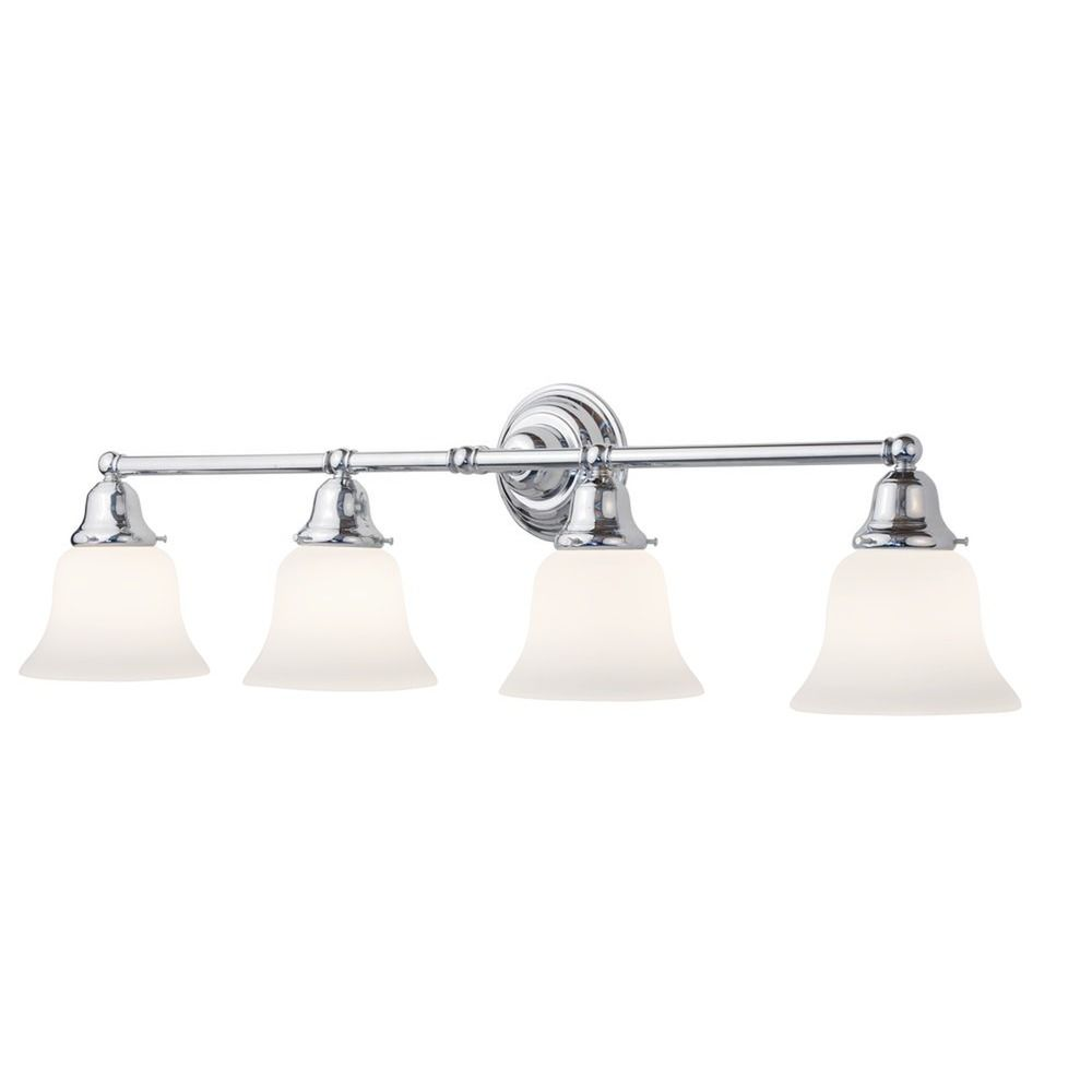 Four-Light Bathroom Vanity Light with Bell Shades 674-26/G9110 KIT Destination Lighting