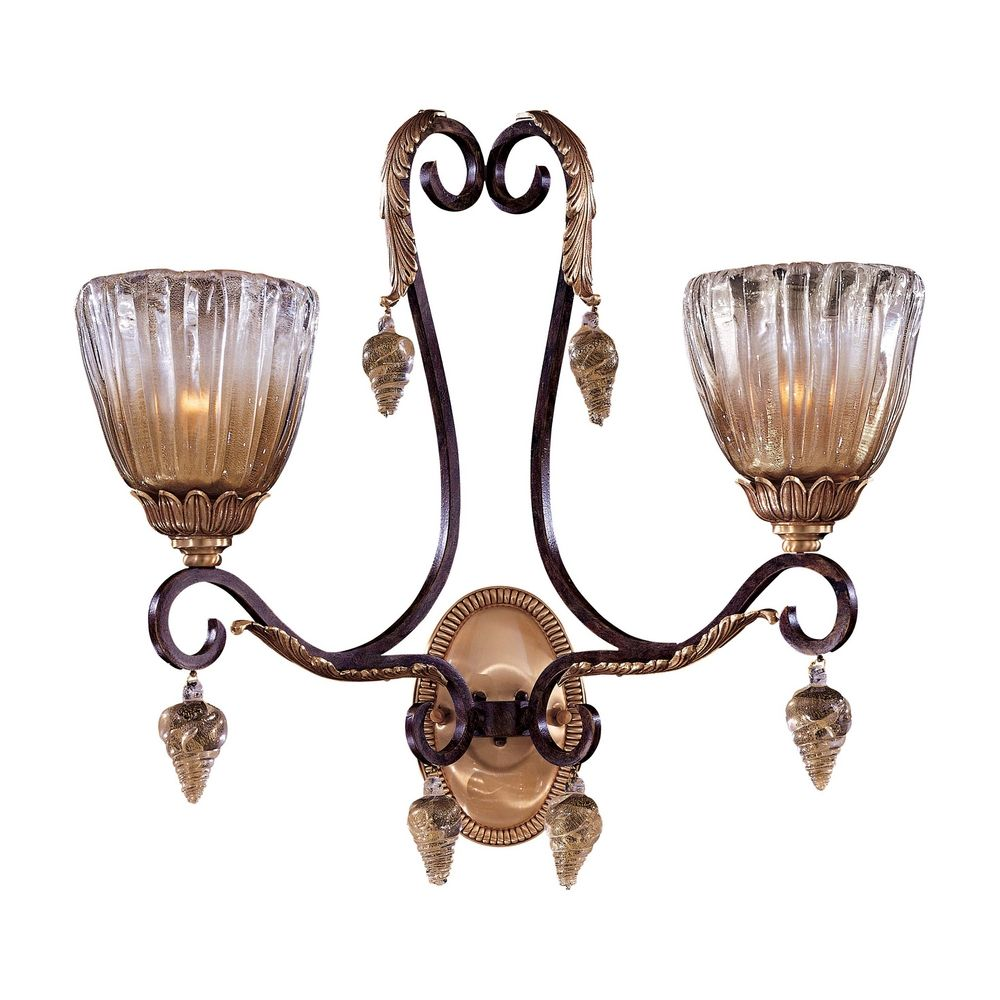 Crystal Wall Sconce With Switch : Bronze Crystal Wall Sconce Light N9017 Destination Lighting