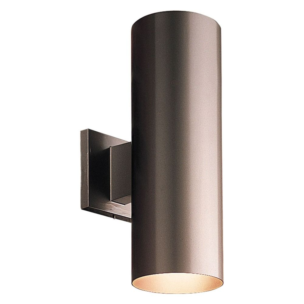 Progress Lighting Cylinder Antique Bronze LED Outdoor Wall