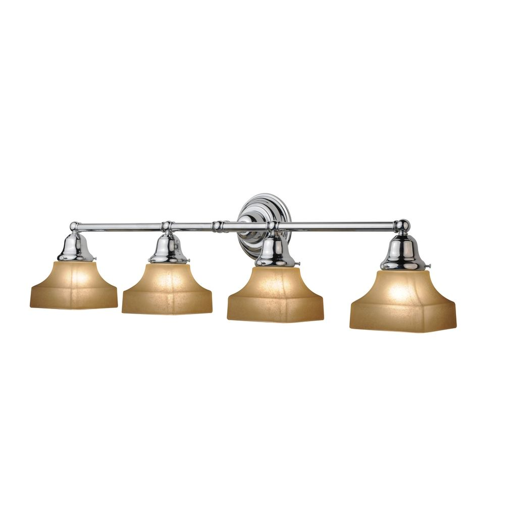 Four-Light Bathroom Vanity Light with Square Shades 674-26/G9415C KIT Destination Lighting