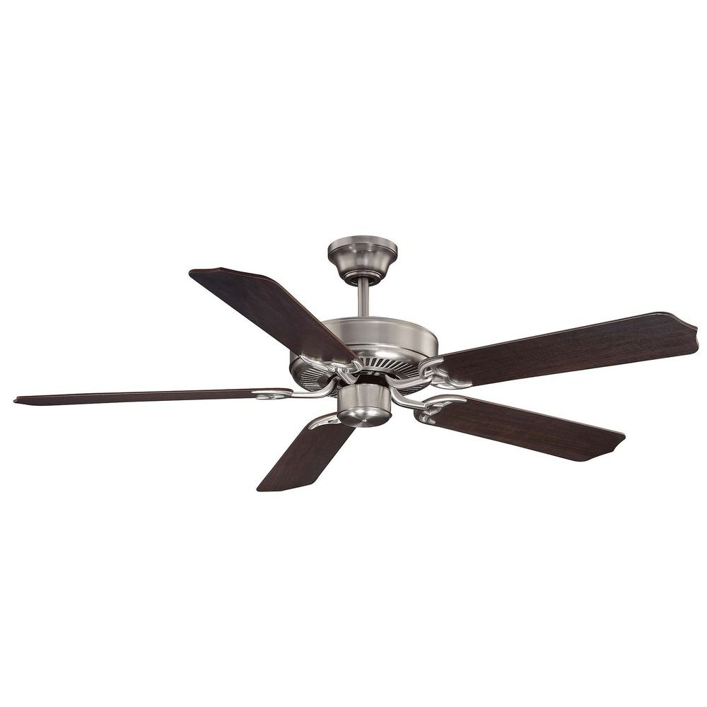 Savoy House Satin Nickel Ceiling Fan Without Light