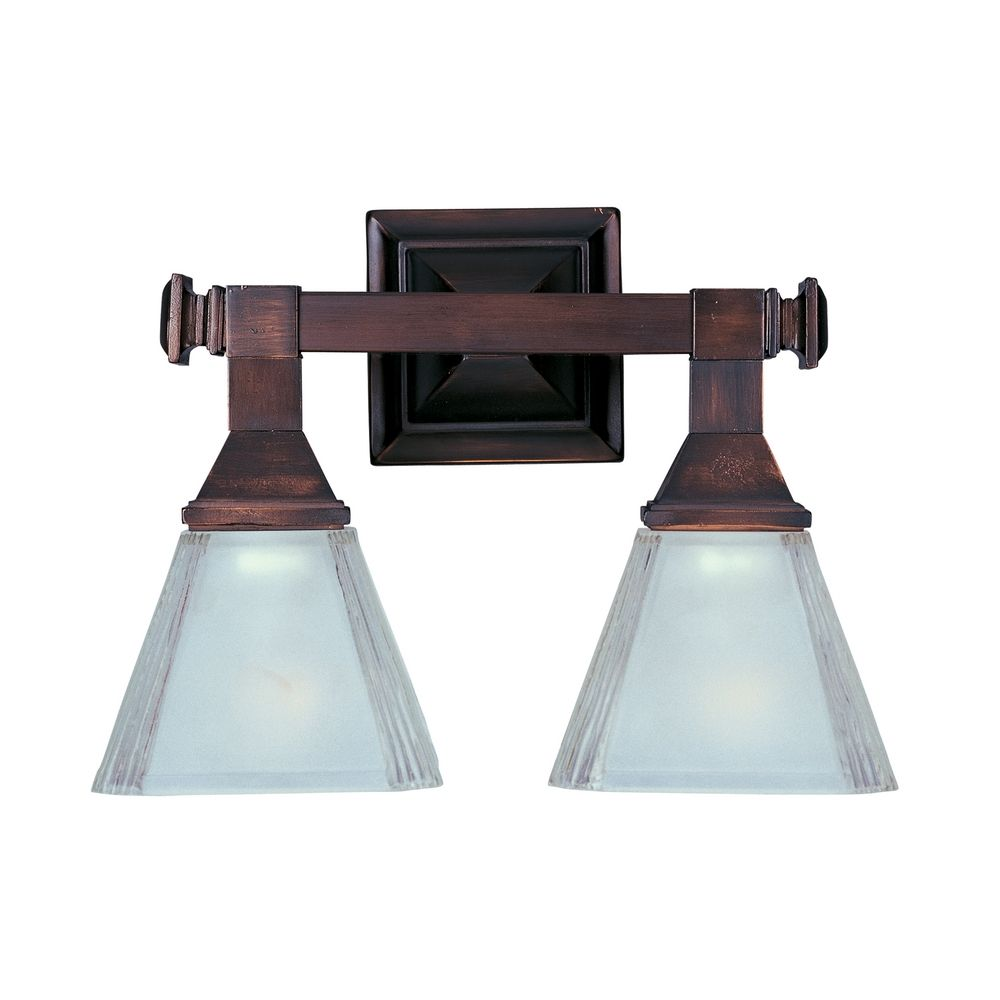 Brilliant  Lighting 2Light Currituck OilRubbed Bronze Transitional Vanity Light