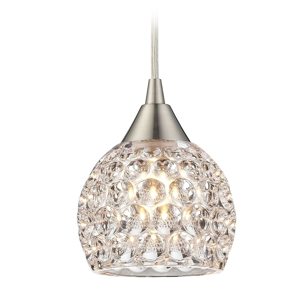 Crystal Mini Pendant Light With Clear Glass At Destination Lighting