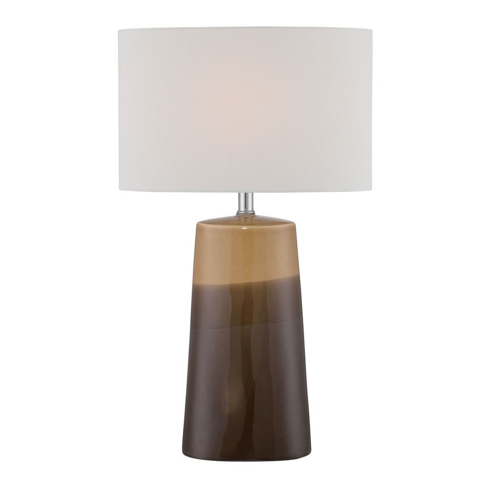 Lite Source Baker Gradient Coffee Ceramic Table Lamp With Oval Shade Ls 22757 Destination