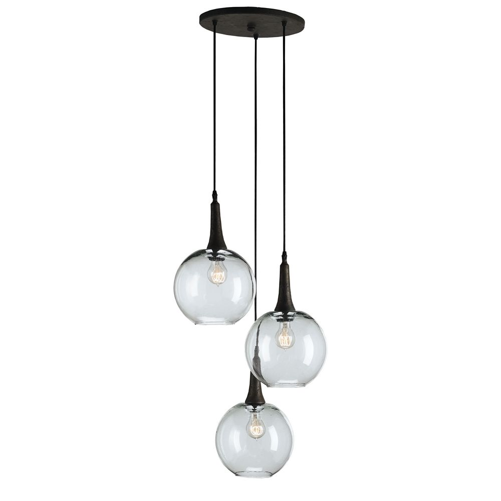 Currey And Company Lighting Shirley Rust Multi Light