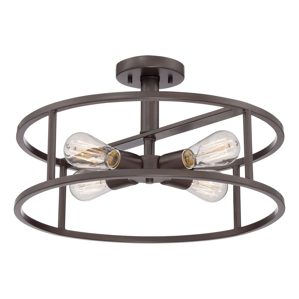 light nhr1718wt hover or click to zoom - Semi Flush Mount Lighting