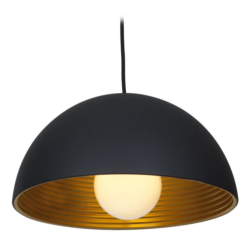 Access Lighting Astro Black Pendant Light With Bowl Dome Shade 23767 Mbl
