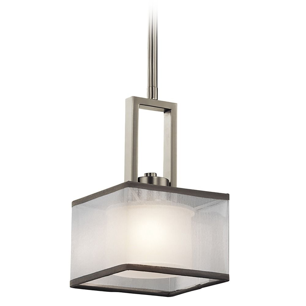 kichler lighting kailey brushed nickel mini pendant light with