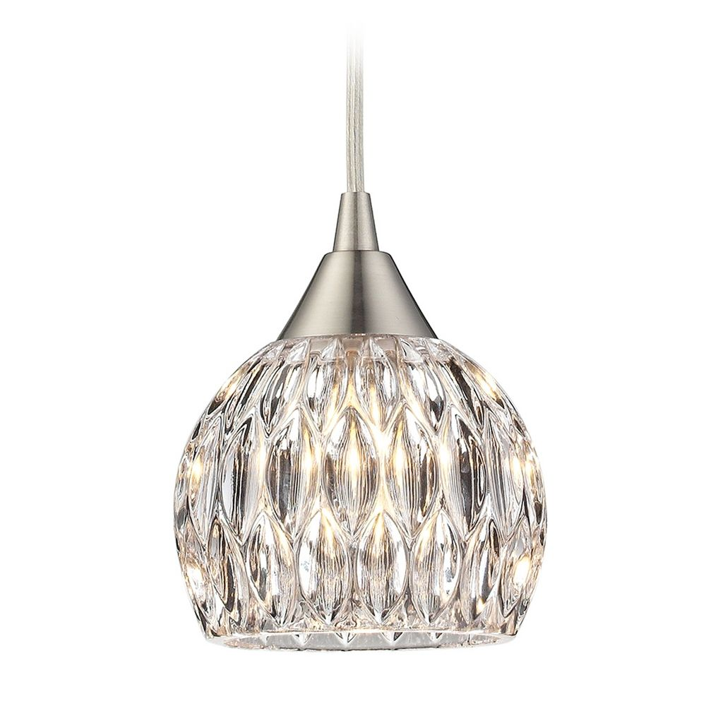 Elk Lighting Crystal Mini Pendant Light With Clear Glass 10342 1