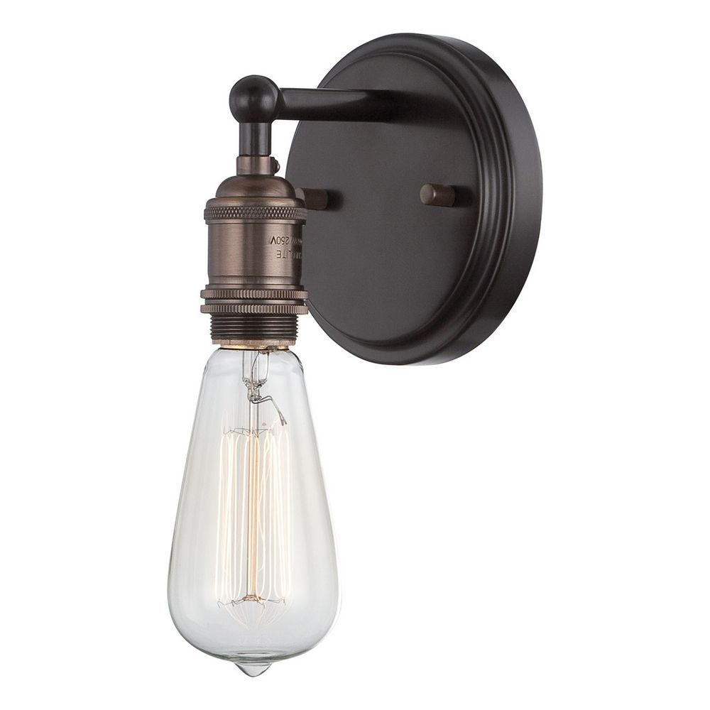 Sconce Wall Light in Rustic Bronze Finish 60/5515 Destination Lighting