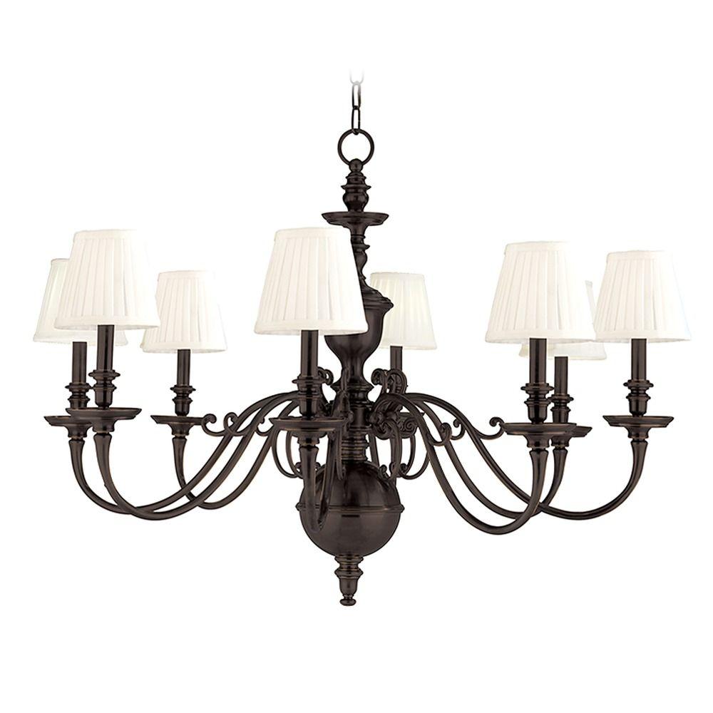 Hudson Valley Emergency Lighting: Hudson Valley Lighting Charleston Old Bronze Chandelier