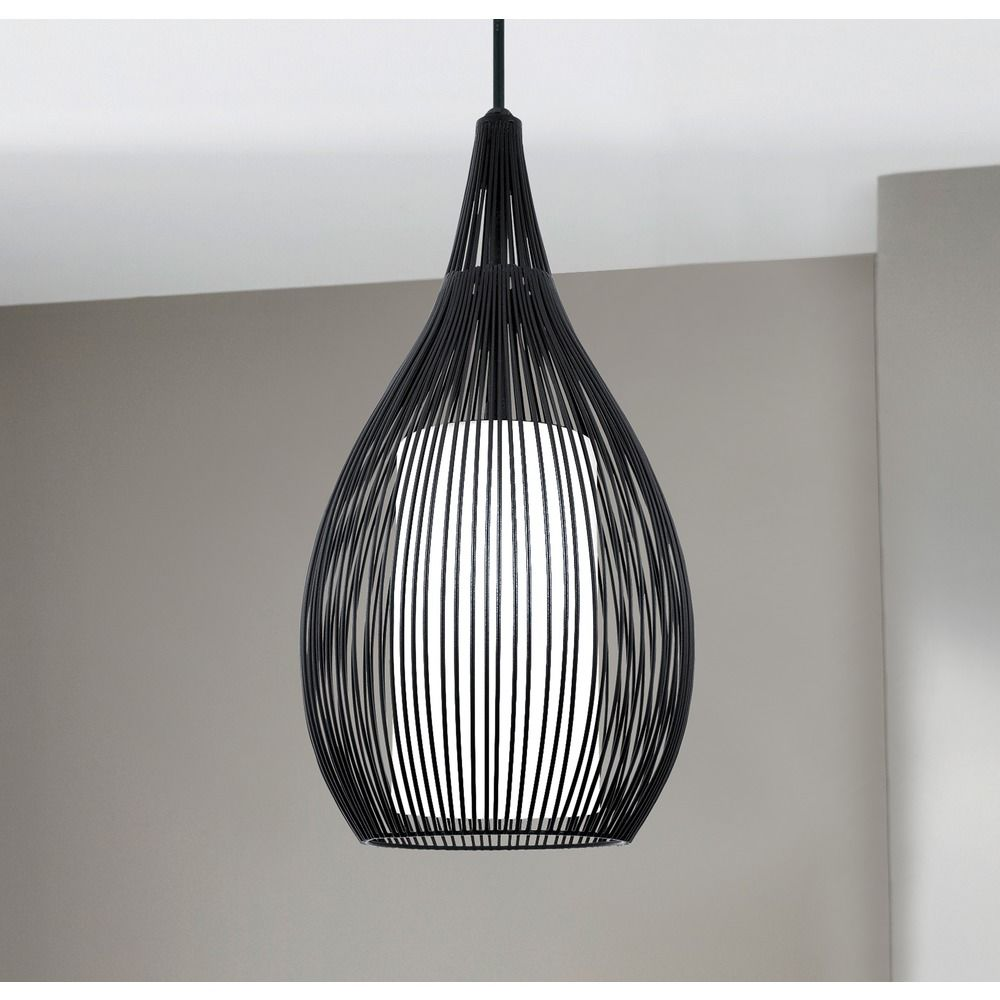Eglo Razoni Black Mini-Pendant Light with Cylindrical Shade | 92252A ...