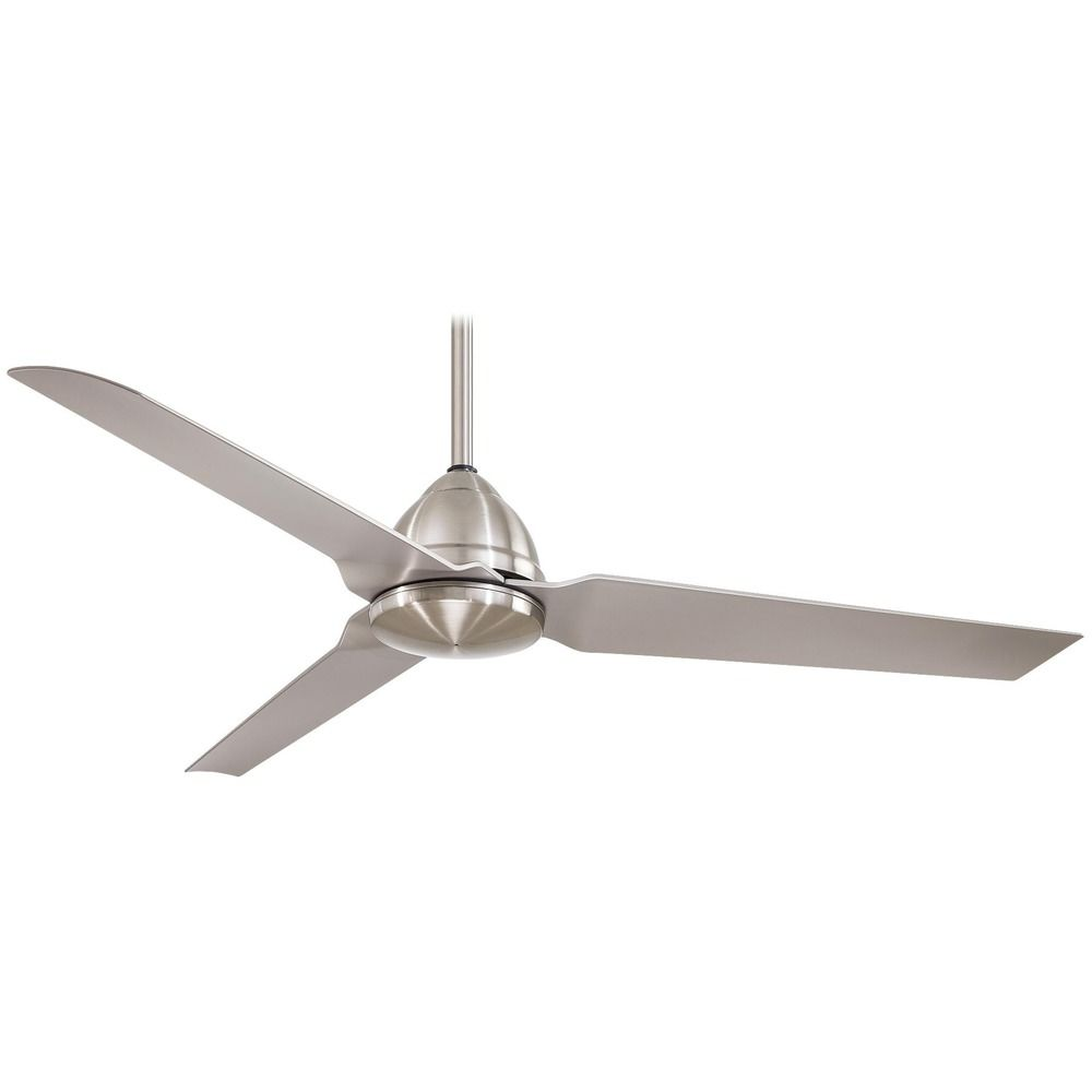 Modern Ceiling Fan In Brushed Nickel Finish F753 Bnw