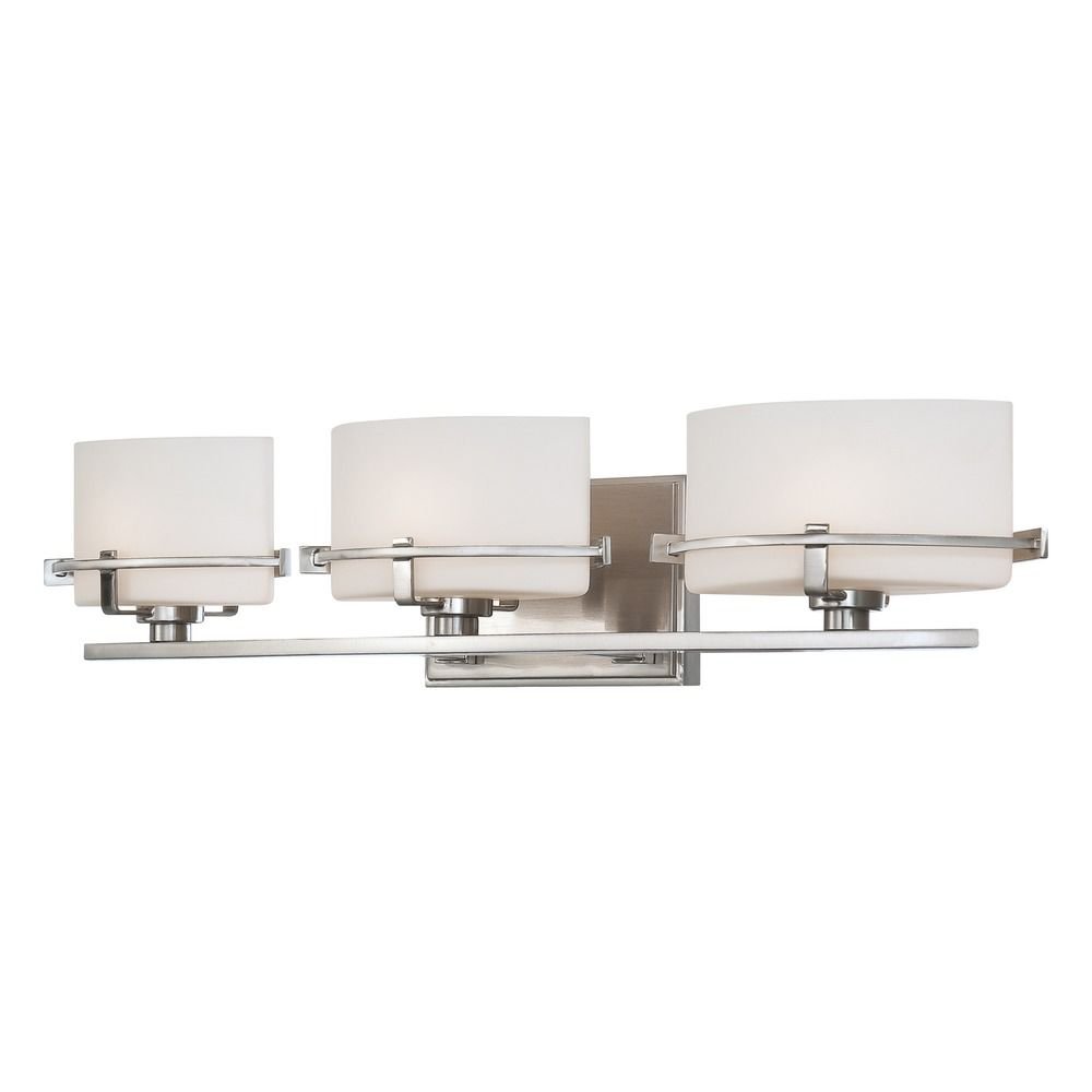 Quoizel Lighting Nolan Brushed Nickel Bathroom Light Nn8603bnled Destination Lighting