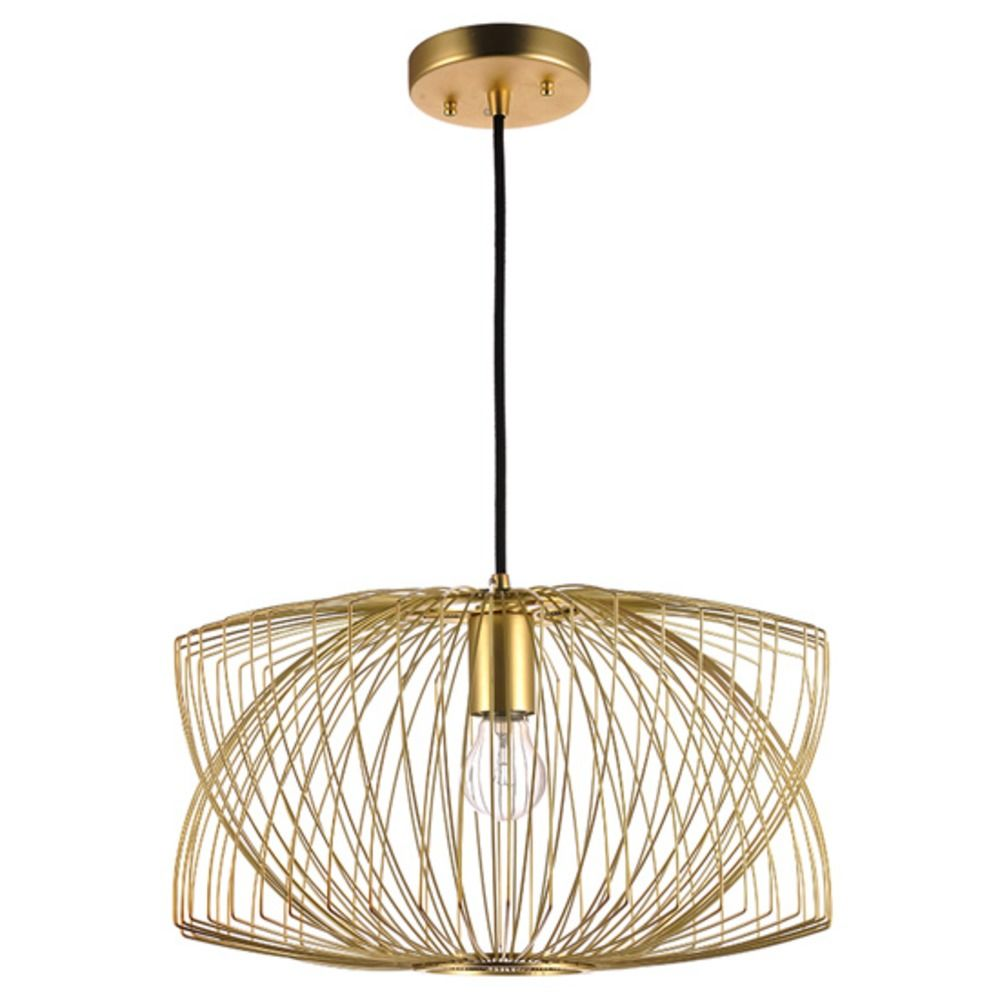 nuevo lighting helio pendant light in matte gold  hgmo  - nuevo lighting helio pendant light in matte gold alt