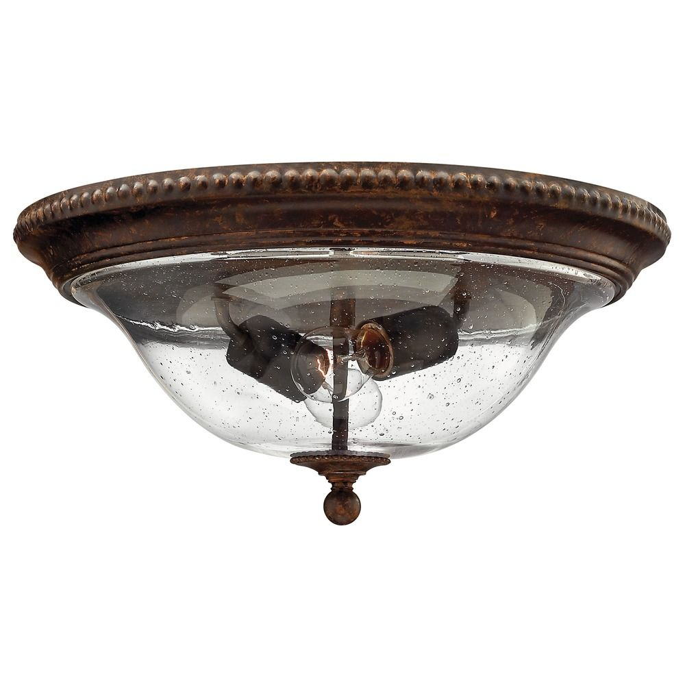 Hinkley Lighting Seeded Gl Flushmount Light Bronze 3716fb Tap To Zoom Shown In Forum Finish