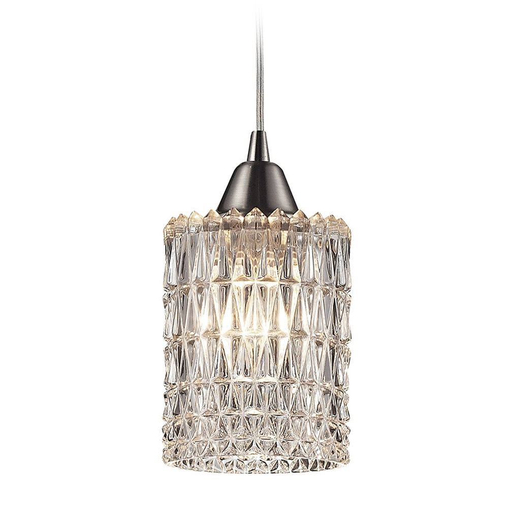 Crystal Mini Pendant Light With Clear Glass