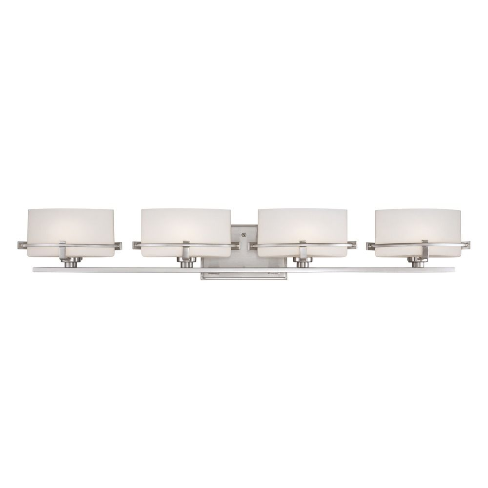 Quoizel Lighting Nolan Brushed Nickel Bathroom Light Nn8604bnled Destination Lighting